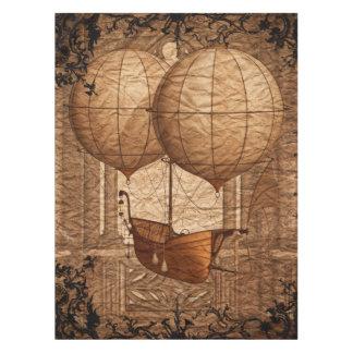 Grunge Steampunk Victorian Airship Tablecloth