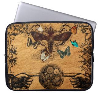Grunge Steampunk Victorian Butterfly Laptop Sleeve