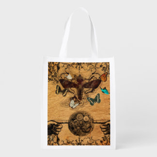 Grunge Steampunk Victorian Butterfly Reusable Grocery Bag