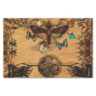Grunge Steampunk Victorian Butterfly Tissue Paper