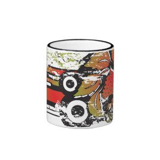 grunge strawberry coffee mug