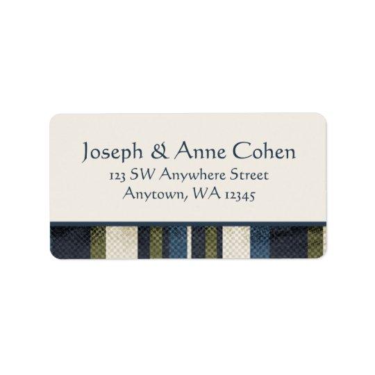 Grunge Stripes Address Label