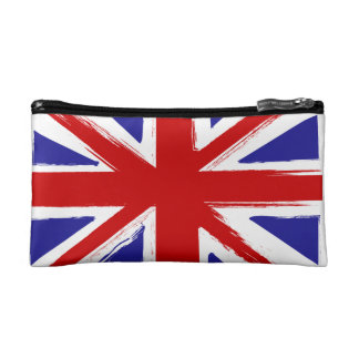 Grunge Style British Union Jack Flag  S Cosmetic Makeup Bag