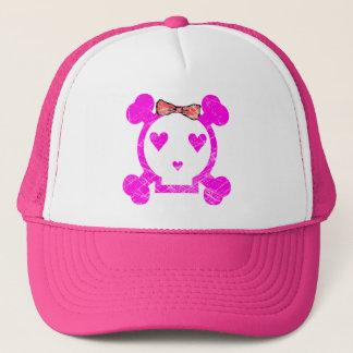 GRUNGE STYLE EMO GIRL SKULL TRUCKER HAT
