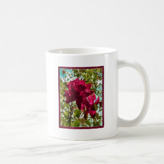 Grunge Style Floral Composition Coffee Mugs