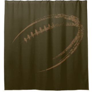 Grunge Style Football Design Shower Curtain