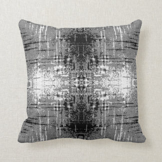 Grunge Style, Gray Abstract. Cushion