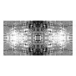Grunge Style, Gray Abstract. Custom Photo Card