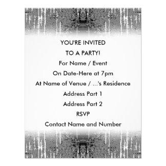 Grunge Style Gray Abstract Custom Invites