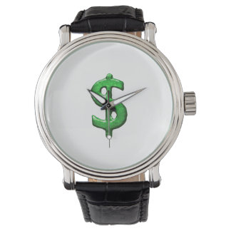 Grunge Style Money Sign Symbol Illustration Watch