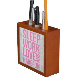Grunge Style Motivational Quote Poster Desk Organiser