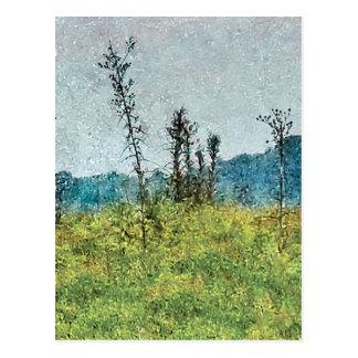 Grunge Style Nature Artwork Postcard