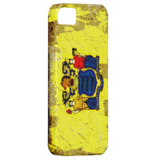 Grunge Style New Jersey Flag iPhone 5 Case