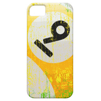 Grunge Style Number 9 Billiards Ball iPhone 5 Cover