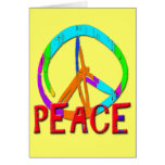 GRUNGE STYLE PEACE SIGN GREETING CARD