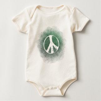 Grunge Style Peace Symbol Baby  Organic Bodysuit