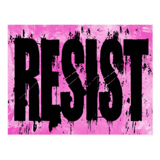 Grunge Style Resistance Postcard