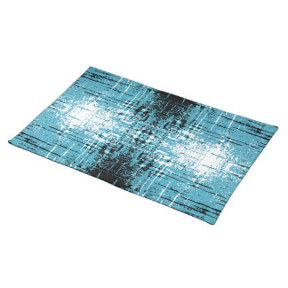 Grunge Style Teal Abstract. Placemat