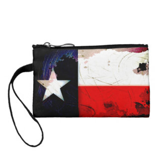 Grunge Style Texas Flag Coin Purse