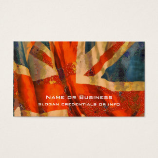 Grunge Style Union Jack British Flag Illustration