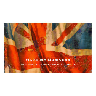 Grunge Style Union Jack British Flag Illustration Pack Of Standard Business Cards