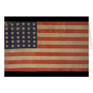 Grunge Style Vintage Patriotic American Flag Card