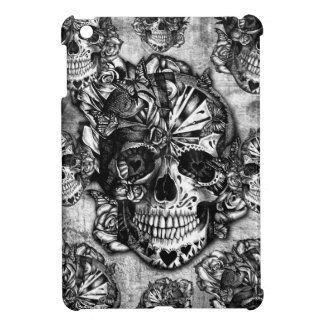 Grunge sugar skull pattern cover for the iPad mini