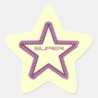 Grunge Superstar Star Stickers, Purple Star Sticker