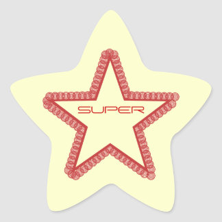 Grunge Superstar Star Stickers, Red Star Sticker