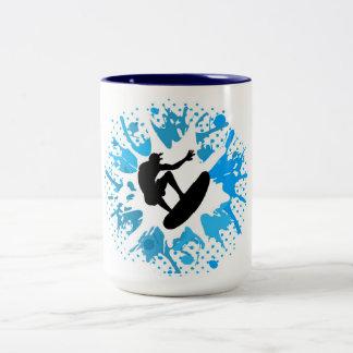 Grunge surfer mug