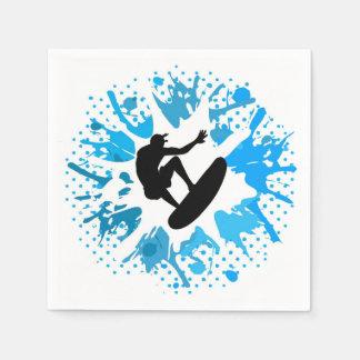 Grunge surfer paper napkins