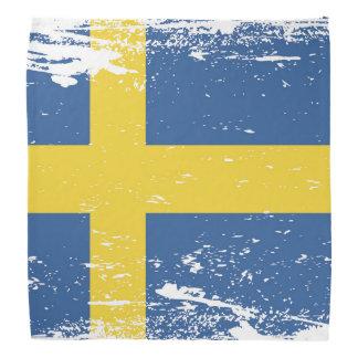 Grunge Sweden Flag Bandanas