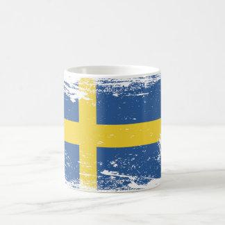 Grunge Sweden Flag Mugs