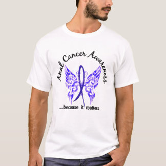 Grunge Tattoo Butterfly 6.1 Anal / Rectal Cancer T-Shirt