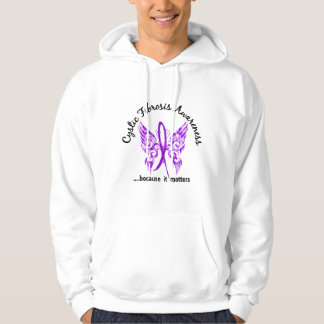 Grunge Tattoo Butterfly 6.1 Cystic Fibrosis Hoodie