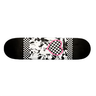Grunge Tattoo Heart 20 Cm Skateboard Deck