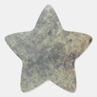 Grunge Texture Star Sticker