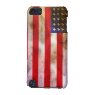 Grunge Textured American Flag iPod Touch (5th Generation) Covers