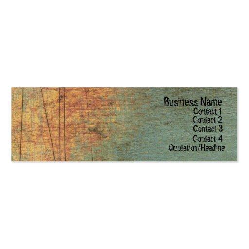 Grunge Textured ARt Skinny Website Business Card
