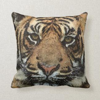 Grunge Tiger Throw Pillow