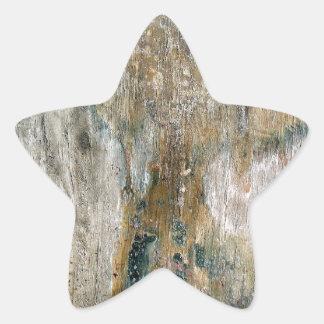 Grunge tile pattern star sticker