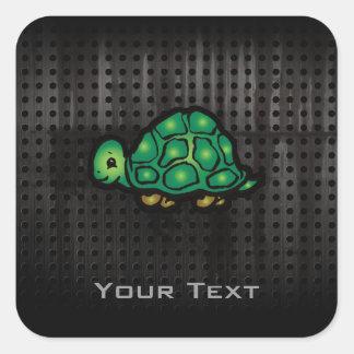 Grunge Turtle Square Sticker