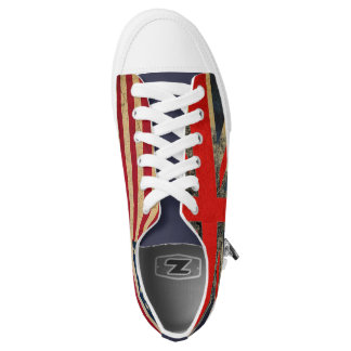 Grunge UK Flag and USA Flag Custom Trainers