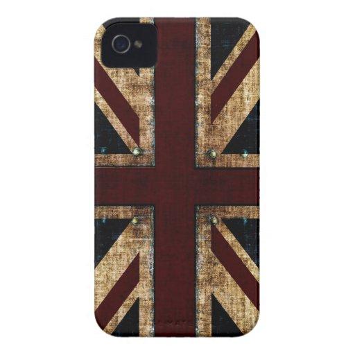 grunge Union Jack blackberry case
