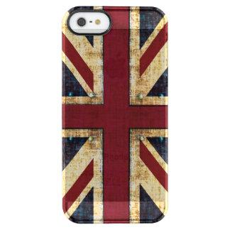 Grunge  Union Jack British flag Clear iPhone SE/5/5s Case