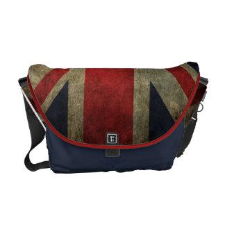 Grunge Union-Jack British Flag Messenger Bags