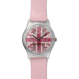 grunge union Jack British Flag Watch
