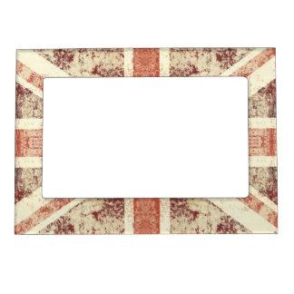 Grunge Union Jack - brown tones magnetic frame
