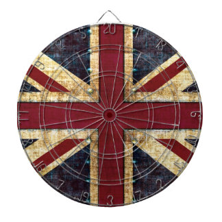Grunge Union Jack Dartboard