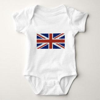 Grunge Union Jack Flag Baby Bodysuit